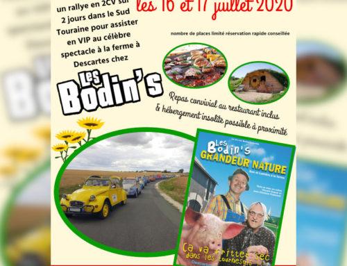 Rallye 2CV en Sud Touraine au pays des Bodins les 16 et 17 juillet